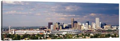 Skyline with Invesco Stadium, Denver, Colorado, USA Canvas Art Print