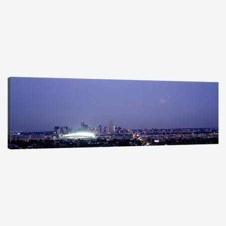 High angle view of a city, Denver, Colorado, USA Canvas Print #PIM6326} by Panoramic Images Canvas Wall Art