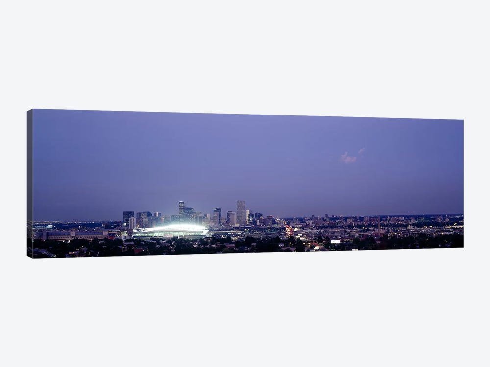High angle view of a city, Denver, Colorado, USA by Panoramic Images 1-piece Canvas Art