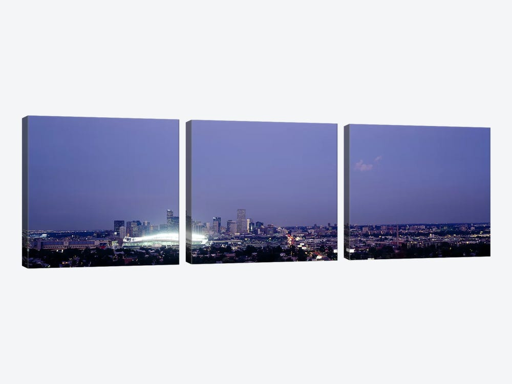 High angle view of a city, Denver, Colorado, USA by Panoramic Images 3-piece Canvas Wall Art