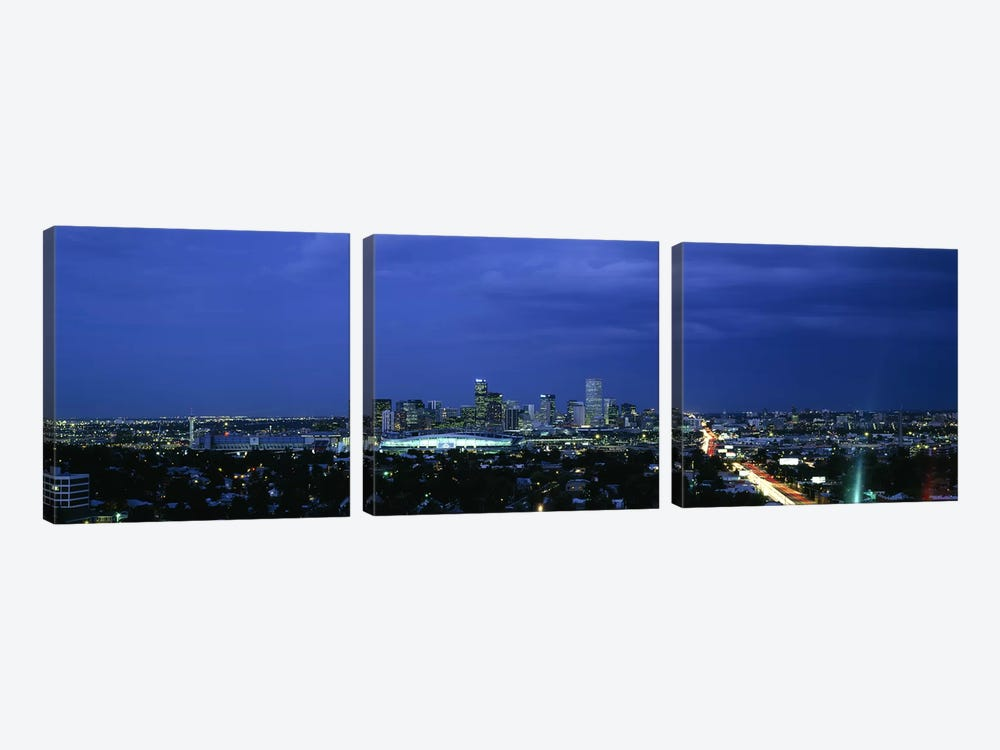 High angle view of a city, Denver, Colorado, USA #2 by Panoramic Images 3-piece Art Print