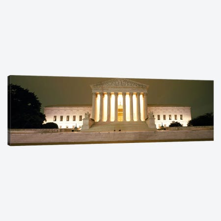 Supreme Court Building illuminated at night, Washington DC, USA Canvas Print #PIM6328} by Panoramic Images Art Print