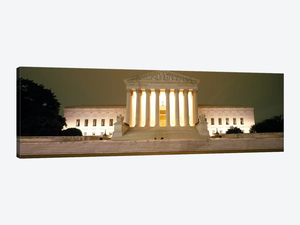 Supreme Court Building illuminated at night, Washington DC, USA by Panoramic Images 1-piece Canvas Art