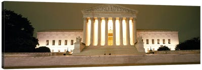 Supreme Court Building illuminated at night, Washington DC, USA Canvas Art Print