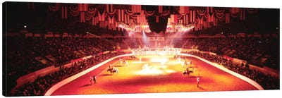 Group of people performing with horses in a stadium, 100th Stock Show And Rodeo, Fort Worth, Texas, USA Canvas Print #PIM633