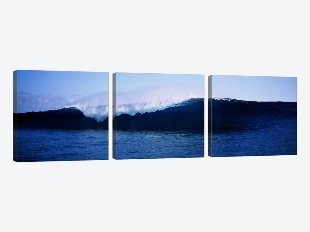Cresting Wave, Tahiti, Windward Islands, Society Islands, French Polynesia by Panoramic Images 3-piece Canvas Art