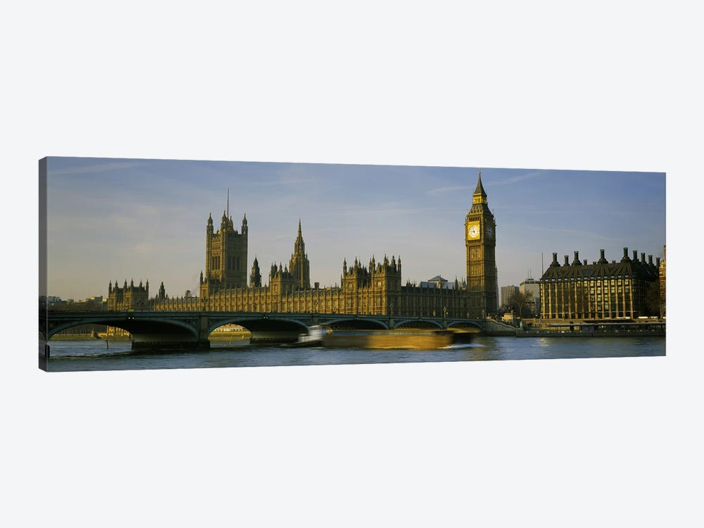 Palace Of Westminster, Westminster Bridge & Portcullis House, London, England by Panoramic Images 1-piece Canvas Wall Art