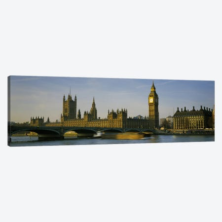 Palace Of Westminster, Westminster Bridge & Portcullis House, London, England Canvas Print #PIM6344} by Panoramic Images Canvas Wall Art