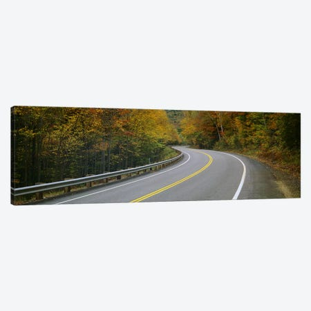 Winding Road Through An Autumn Forest Landscape, New Hampshire, USA Canvas Print #PIM6357} by Panoramic Images Art Print