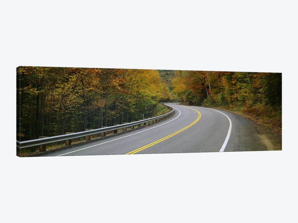 Winding Road Through An Autumn Forest Landscape, New Hampshire, USA by Panoramic Images 1-piece Canvas Wall Art