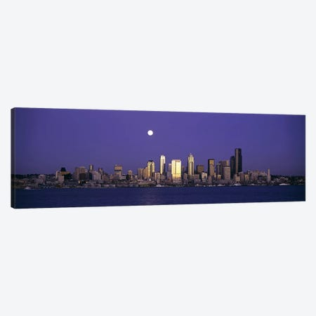 Skyscrapers at the waterfront, Elliott Bay, Seattle, King County, Washington State, USA Canvas Print #PIM6368} by Panoramic Images Art Print