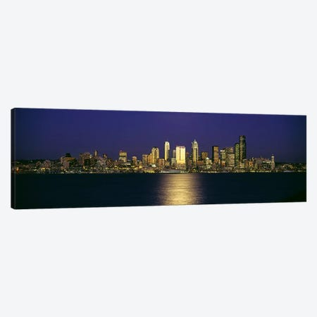 Skyscrapers at the waterfront, Elliott Bay, Seattle, King County, Washington State, USA #2 Canvas Print #PIM6369} by Panoramic Images Canvas Art Print