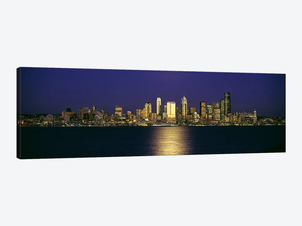 Skyscrapers at the waterfront, Elliott Bay, Seattle, King County, Washington State, USA #2 by Panoramic Images 1-piece Canvas Print