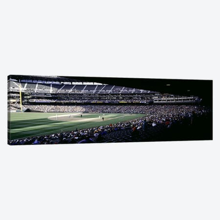 Baseball players playing baseball in a stadium, Safeco Field, Seattle, King County, Washington State, USA Canvas Print #PIM6372} by Panoramic Images Canvas Wall Art