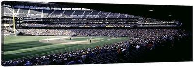 Baseball players playing baseball in a stadium, Safeco Field, Seattle, King County, Washington State, USA Canvas Art Print