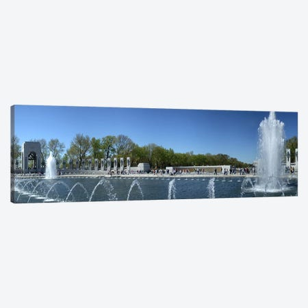 Fountain in a war memorial, National World War II Memorial, Washington DC, USA Canvas Print #PIM6374} by Panoramic Images Art Print