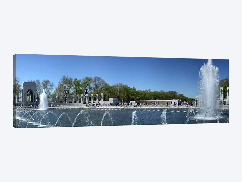 Fountain in a war memorial, National World War II Memorial, Washington DC, USA 1-piece Canvas Art Print