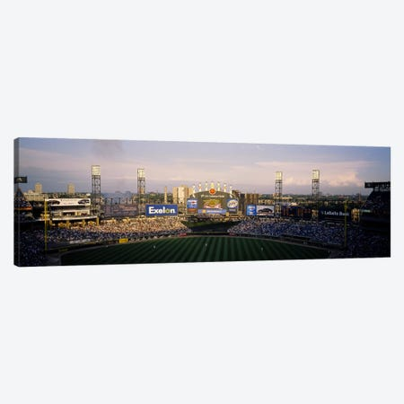 High angle view of spectators in a stadium, U.S. Cellular Field, Chicago, Illinois, USA Canvas Print #PIM6377} by Panoramic Images Art Print