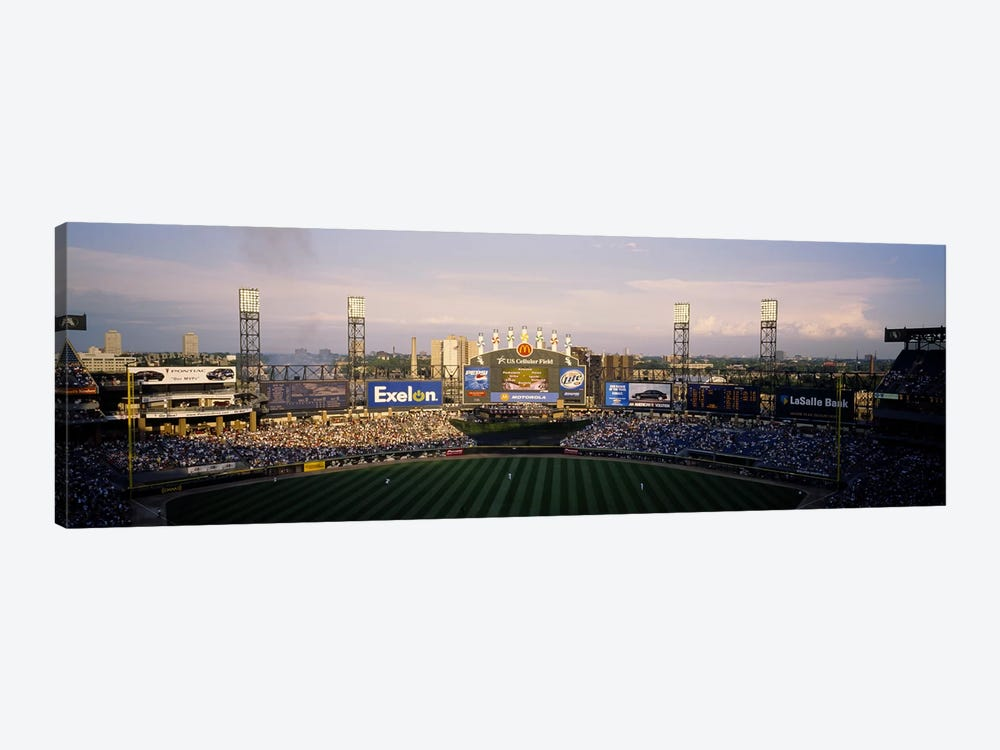 High angle view of spectators in a stadium, U.S. Cellular Field, Chicago, Illinois, USA by Panoramic Images 1-piece Canvas Art
