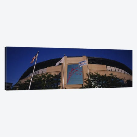 Low angle view of a building, U.S. Cellular Field, Chicago White Sox, Chicago, Illinois, USA Canvas Print #PIM6378} by Panoramic Images Canvas Artwork