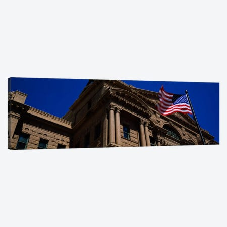 Low angle view of a courthouse, Fort Worth, Texas, USA Canvas Print #PIM637} by Panoramic Images Canvas Wall Art