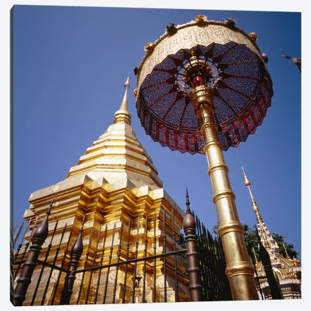 Golden Chedi, Wat Phrathat Doi Suthep, Chiang Mai Province, Thailand Canvas Print #PIM6381} by Panoramic Images Canvas Print