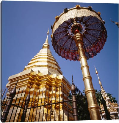 Golden Chedi, Wat Phrathat Doi Suthep, Chiang Mai Province, Thailand Canvas Print #PIM6381