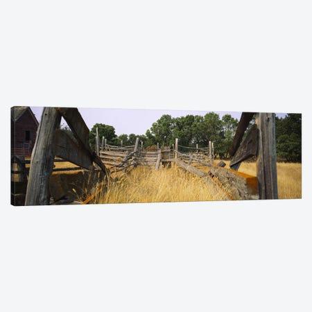 Dilapidated Cattle Chute, North Dakota, USA Canvas Print #PIM6387} by Panoramic Images Canvas Art