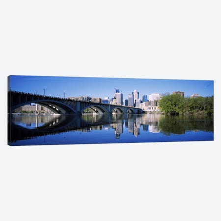 Arch bridge across a riverMinneapolis, Hennepin County, Minnesota, USA Canvas Print #PIM6388} by Panoramic Images Canvas Art Print