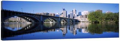 Arch bridge across a riverMinneapolis, Hennepin County, Minnesota, USA Canvas Art Print