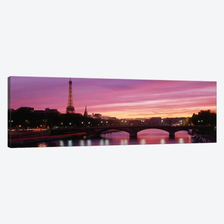 Fuchsia Sunset, Paris, Ile-de-France, France Canvas Print #PIM638} by Panoramic Images Canvas Print