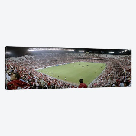 Crowd in a stadium, Sevilla FC, Estadio Ramon Sanchez Pizjuan, Seville, Seville Province, Andalusia, Spain Canvas Print #PIM6399} by Panoramic Images Canvas Artwork