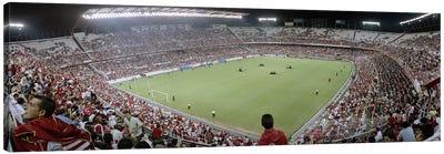 Crowd in a stadium, Sevilla FC, Estadio Ramon Sanchez Pizjuan, Seville, Seville Province, Andalusia, Spain Canvas Print #PIM6399