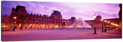 Napolean Courtyard At Dusk, Palais du Louvre, Paris, Ile-de-France, France Canvas Print #PIM639
