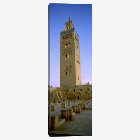 Low angle view of a minaret, Koutoubia Mosque, Marrakech, Morocco Canvas Print #PIM6404} by Panoramic Images Art Print