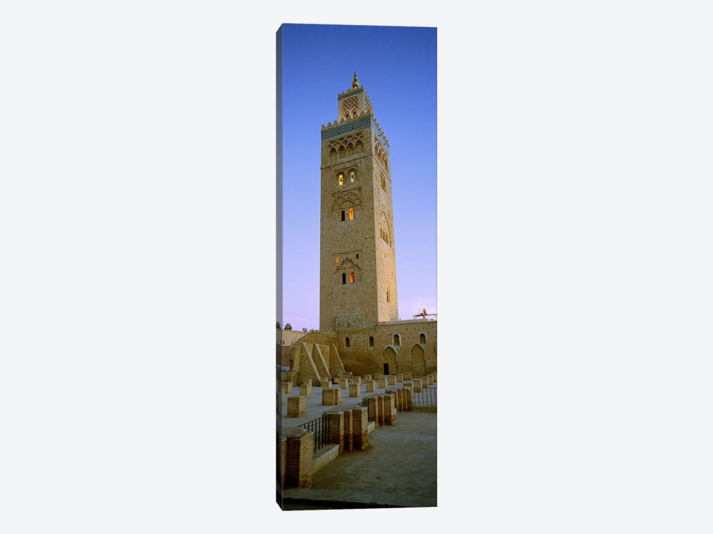 Low angle view of a minaret, Koutoubia Mosque, Marrakech, Morocco by Panoramic Images 1-piece Canvas Art Print