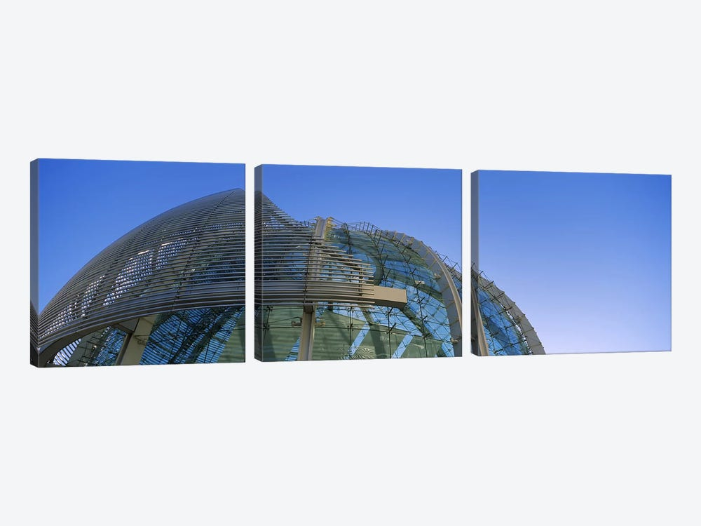 Low angle view of a city hall, Downtown San Jose, San Jose, Silicon Valley, Santa Clara County, California, USA by Panoramic Images 3-piece Canvas Art Print