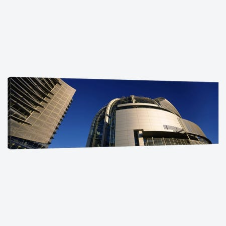Low angle view of a city hall, Downtown San Jose, San Jose, Silicon Valley, Santa Clara County, California, USA #2 Canvas Print #PIM6409} by Panoramic Images Canvas Art