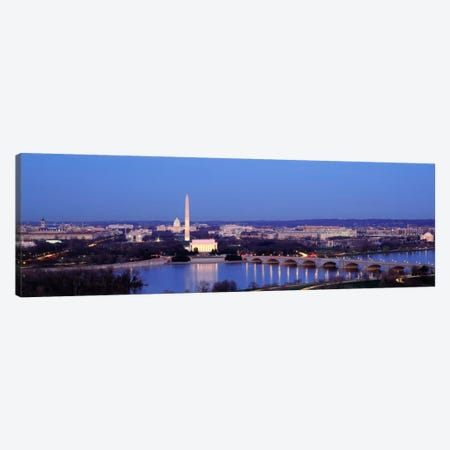 Bridge Over A RiverWashington Monument, Washington DC, District of Columbia, USA Canvas Print #PIM640} by Panoramic Images Canvas Artwork