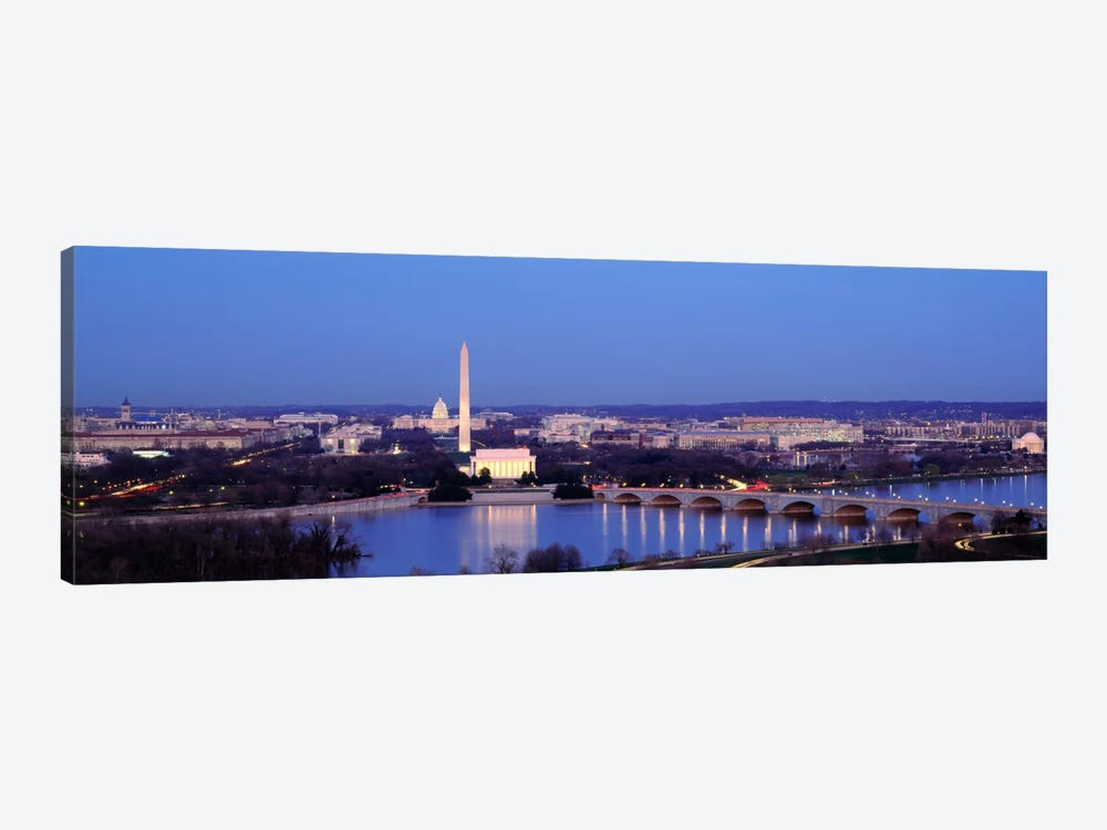 Bridge Over A RiverWashington Monument, Washington DC, District of Columbia, USA by Panoramic Images 1-piece Canvas Art