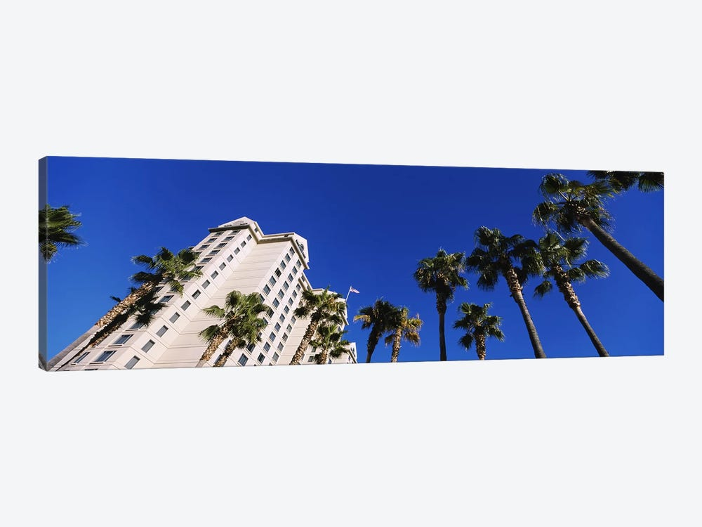 Low-Angle View Of Palm Trees & Fairmont Hotel, San Jose, Santa Clara County, California, USA by Panoramic Images 1-piece Canvas Print