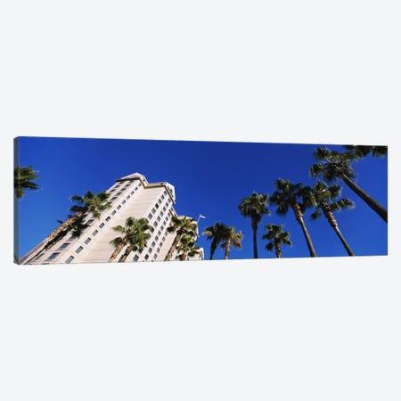 Low-Angle View Of Palm Trees & Fairmont Hotel, San Jose, Santa Clara County, California, USA Canvas Print #PIM6411} by Panoramic Images Canvas Art Print