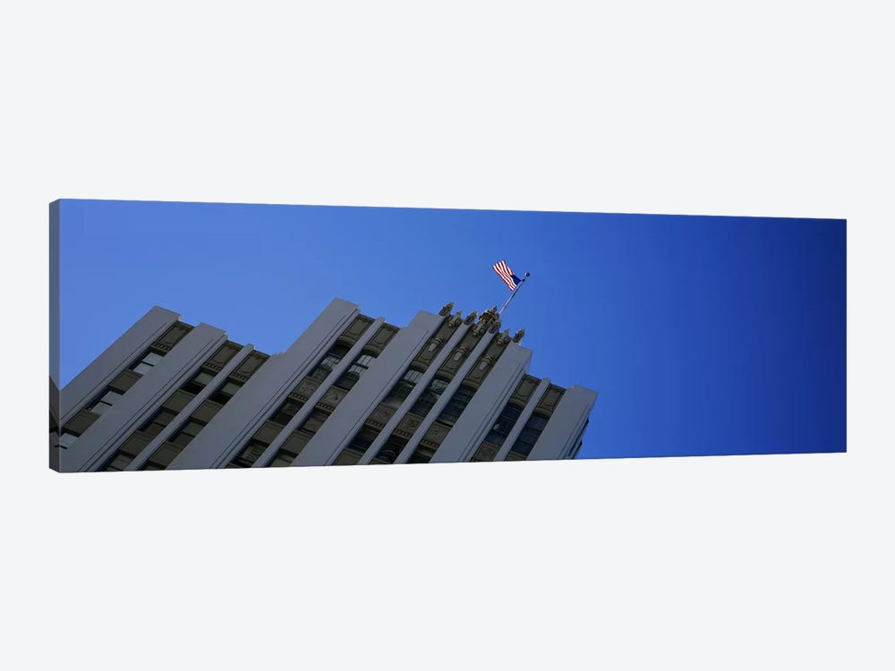 Low angle view of an office building, Downtown San Jose, San Jose, Silicon Valley, Santa Clara County, California, USA by Panoramic Images 1-piece Canvas Print