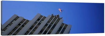 Low angle view of an office building, Downtown San Jose, San Jose, Silicon Valley, Santa Clara County, California, USA Canvas Art Print