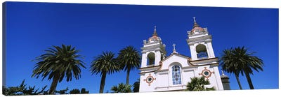 High section view of a cathedral, Portuguese Cathedral, San Jose, Silicon Valley, Santa Clara County, California, USA Canvas Art Print