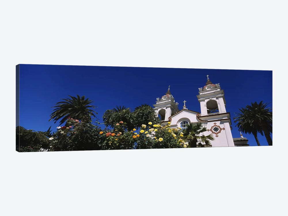 Plants in front of a cathedral, Portuguese Cathedral, San Jose, Silicon Valley, Santa Clara County, California, USA by Panoramic Images 1-piece Canvas Art Print