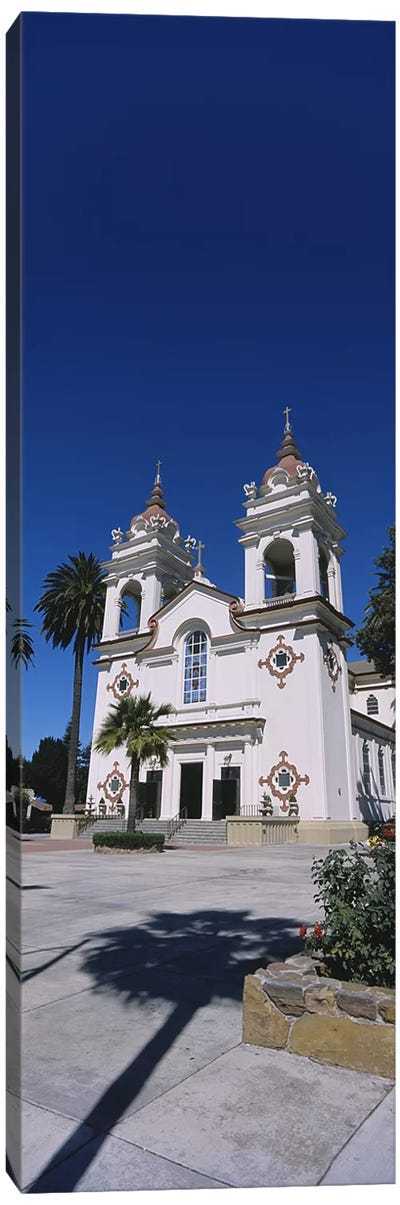 Facade of a cathedral, Portuguese Cathedral, San Jose, Silicon Valley, Santa Clara County, California, USA Canvas Art Print
