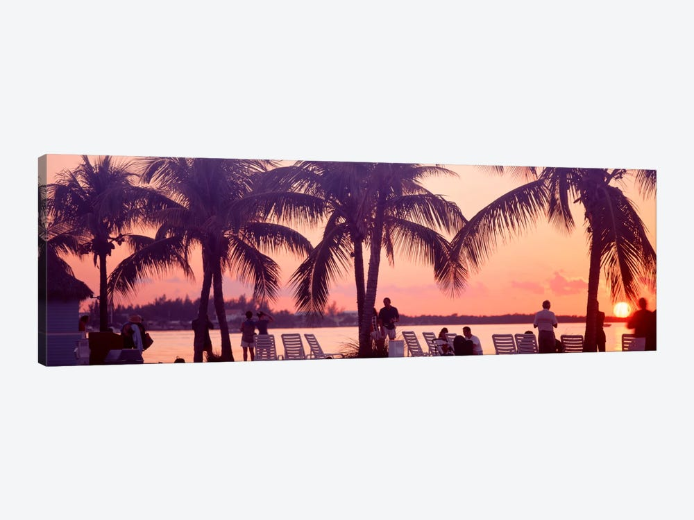 Sunset on the beach, Miami Beach, Florida, USA by Panoramic Images 1-piece Canvas Art
