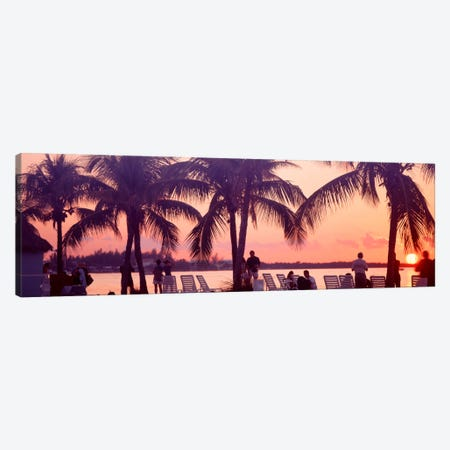 Sunset on the beach, Miami Beach, Florida, USA Canvas Print #PIM642} by Panoramic Images Canvas Wall Art
