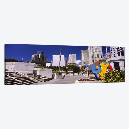 Skyscrapers in a city, Moscone Center, South of Market, San Francisco, California, USA Canvas Print #PIM6433} by Panoramic Images Canvas Art Print